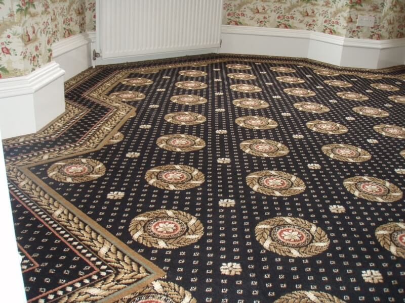 Brintons Border Carpet in bay window